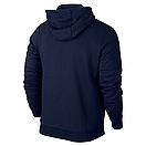 Теплая мужская толстовка, худи, кенгурушка Adidas E313 синяя ФЛИС (до -25 °С), фото 2