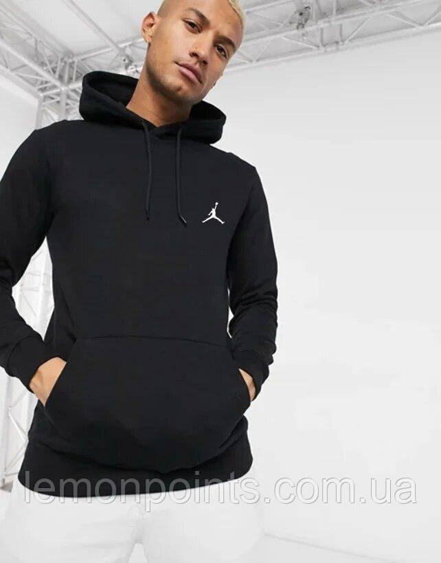 Чоловіча спортивна толстовка, худі, кенгурушка Jordan (Джордан) Чорний
