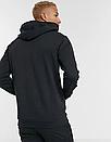 Теплая мужская спортивная толстовка, худи, кенгурушка New Balance (Нью Беленс) черная (ФЛИС), фото 2