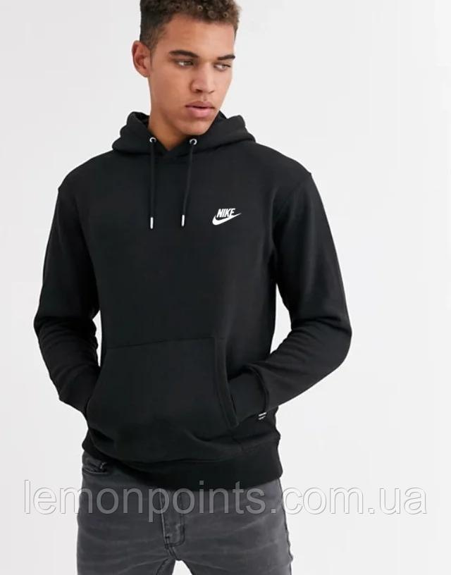 Чоловіча спортивна толстовка, худі, кенгурушка Nike (Найк) Чорний