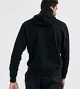 Чоловіча Тепла толстовка з капюшоном, худі, кенгурушка ФЛИС (до -25 °С) Adidas (Адідас) чорний, фото 2