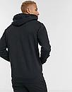 Теплая мужская спортивная толстовка, худи, кенгурушка Champion (Чемпион) черная (ФЛИС), фото 2