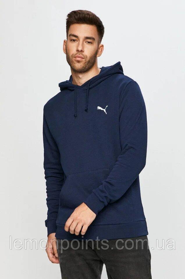 Чоловіча спортивна толстовка, худі, кенгурушка Puma (Пума) Темно-синій