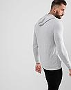 Теплая мужская спортивная толстовка, худи, кенгурушка Adidas (Адидас) серая ФЛИС (до -25 °С), фото 2