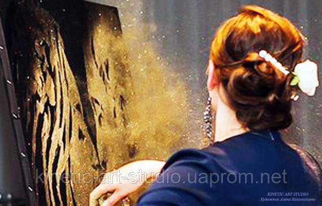 Портрет золотой пылью, звездное шоу, цена