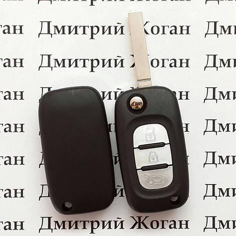 Корпус выкидного автоключа для Renault (Рено) 3 - кнопки,лезвие VA2, фото 2