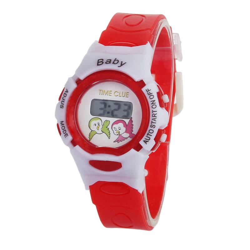 Детские электронные наручные часы Disegni red