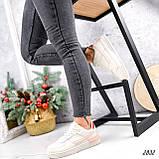 Кроссовки женские For беж + пудра + красный 2832, фото 9
