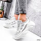 Кросівки жіночі Risto білі + сірий 2962, фото 3