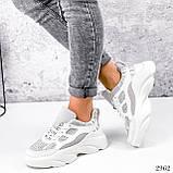 Кросівки жіночі Risto білі + сірий 2962, фото 4