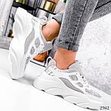 Кросівки жіночі Risto білі + сірий 2962, фото 6
