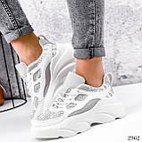 Кросівки жіночі Risto білі + сірий 2962, фото 7