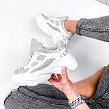 Кросівки жіночі Risto білі + сірий 2962, фото 8