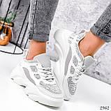Кросівки жіночі Risto білі + сірий 2962, фото 9