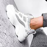 Кросівки жіночі Risto білі + сірий 2962, фото 10