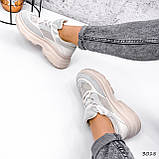 Кроссовки женские Nouela беж+ серый 3018, фото 2
