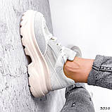 Кроссовки женские Nouela беж+ серый 3018, фото 9
