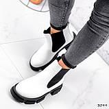 Ботинки женские Slow белые + черный 3099, фото 2