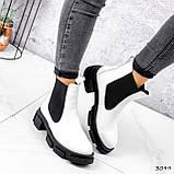 Ботинки женские Slow белые + черный 3099, фото 3
