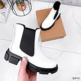 Ботинки женские Slow белые + черный 3099, фото 4