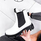 Ботинки женские Slow белые + черный 3099, фото 5