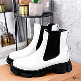 Ботинки женские Slow белые + черный 3099, фото 6