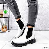 Ботинки женские Slow белые + черный 3099, фото 7
