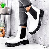 Ботинки женские Slow белые + черный 3099, фото 8