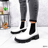 Ботинки женские Slow белые + черный 3099, фото 9