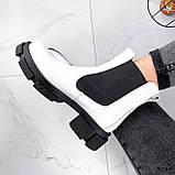 Ботинки женские Slow белые + черный 3099, фото 10