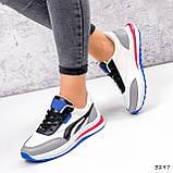 Кросівки жіночі Ursula білі + сірий + чорний + синій 3297, фото 2