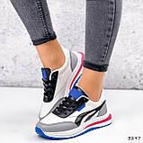 Кросівки жіночі Ursula білі + сірий + чорний + синій 3297, фото 6