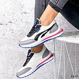 Кросівки жіночі Ursula білі + сірий + чорний + синій 3297, фото 7