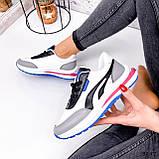 Кросівки жіночі Ursula білі + сірий + чорний + синій 3297, фото 9