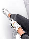 Кроссовки женские Linda белые + серый + черный + оранжевый 3321, фото 3