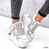 Черевики жіночі Sportik білі + сірі 3132, фото 2
