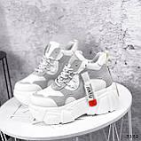 Черевики жіночі Sportik білі + сірі 3132, фото 3