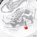 Черевики жіночі Sportik білі + сірі 3132, фото 4