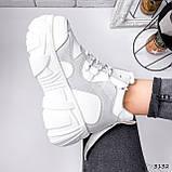 Черевики жіночі Sportik білі + сірі 3132, фото 5
