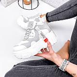 Черевики жіночі Sportik білі + сірі 3132, фото 6