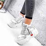 Черевики жіночі Sportik білі + сірі 3132, фото 7