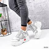 Черевики жіночі Sportik білі + сірі 3132, фото 8
