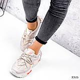 Кеди жіночі Lita беж + оранжевий голографик 3351, фото 2