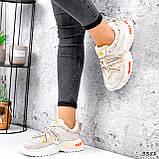 Кеди жіночі Lita беж + оранжевий голографик 3351, фото 10