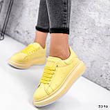 Кроссовки женские Macis желтые 3196, фото 2