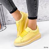 Кроссовки женские Macis желтые 3196, фото 3