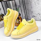 Кроссовки женские Macis желтые 3196, фото 4