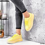 Кроссовки женские Macis желтые 3196, фото 6