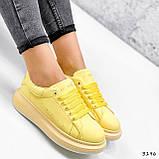 Кроссовки женские Macis желтые 3196, фото 7