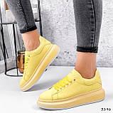 Кроссовки женские Macis желтые 3196, фото 9